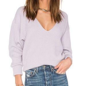 Free People Lavender Allure Pullover VNeck Sweater